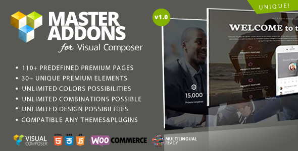 Master Addons for WPBakery Page Builder (formerly Visual Composer)