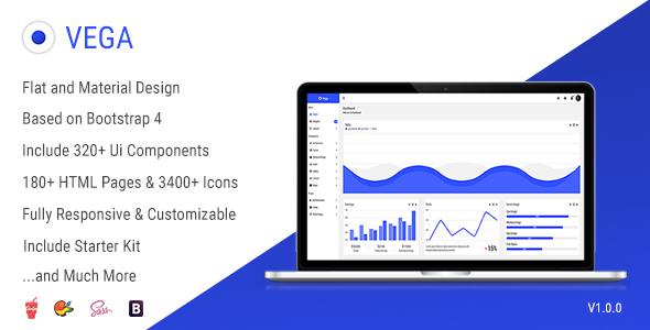 Vega – Responsive Admin Dashboard Template