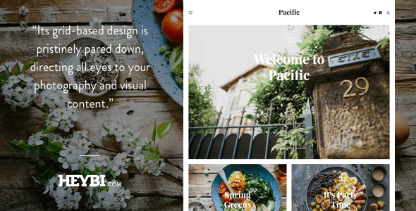 Pacific: Big Bold Photography-Driven Theme - Ghost Themes Blogging