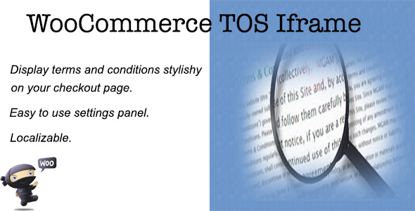 Woocommerce TOS Iframe - CodeCanyon Item for Sale