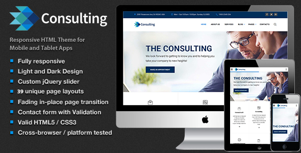 Consulting – Multipurpose Business, Finance and advisory Website Template