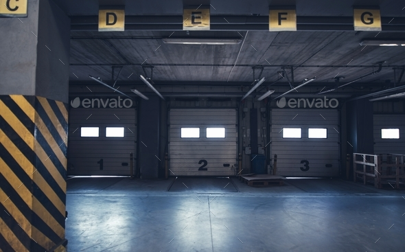 Warehouse Cargo Gates - Stock Photo - Images