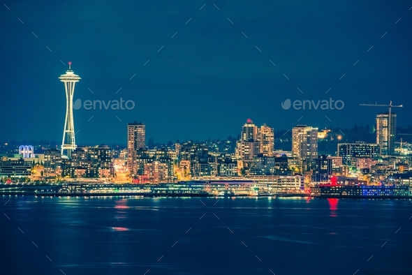 Part of the Seattle Skyline - Stock Photo - Images