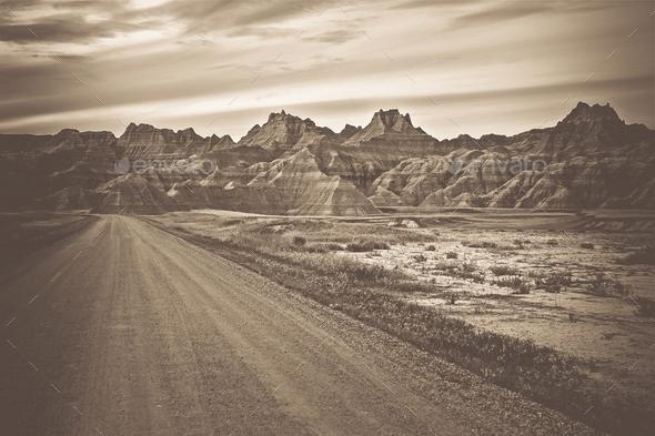 Raw Badlands Landscape - Stock Photo - Images