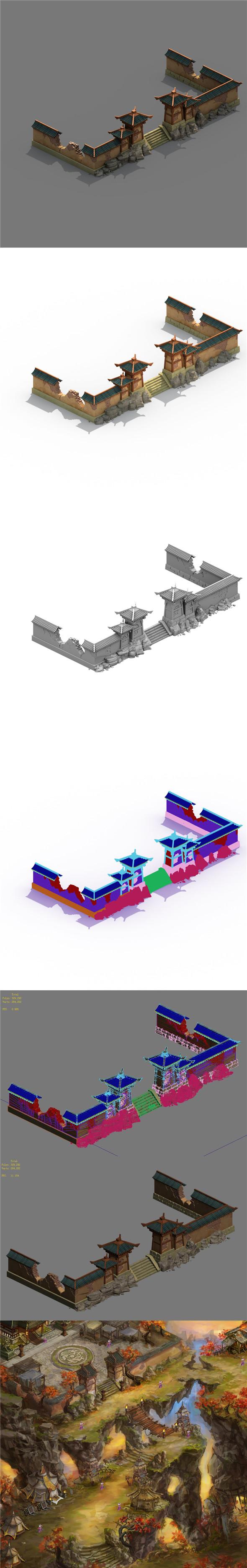 Building - broken wall - 3DOcean Item for Sale