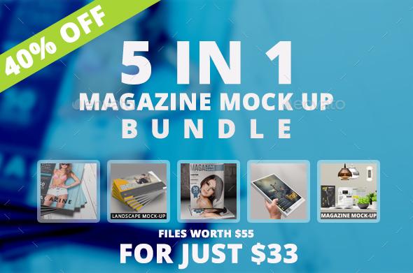 Magazine Mockup Bundle - Magazines Print