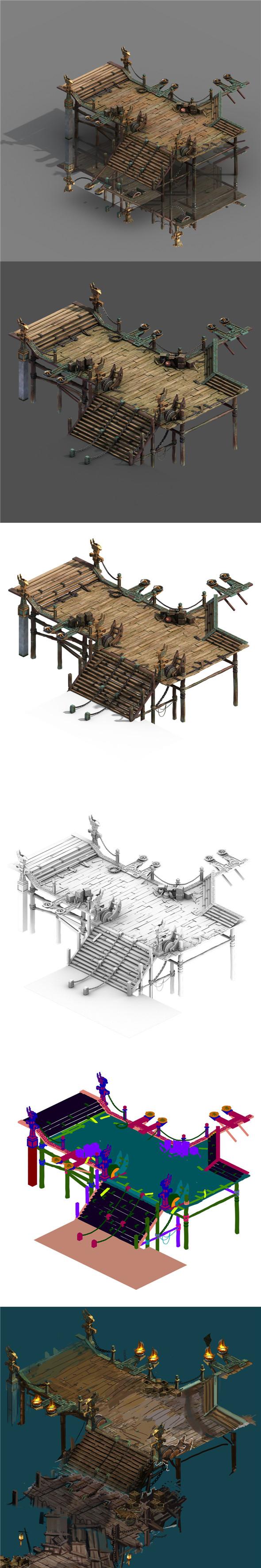 Building - Pier 01 - 3DOcean Item for Sale