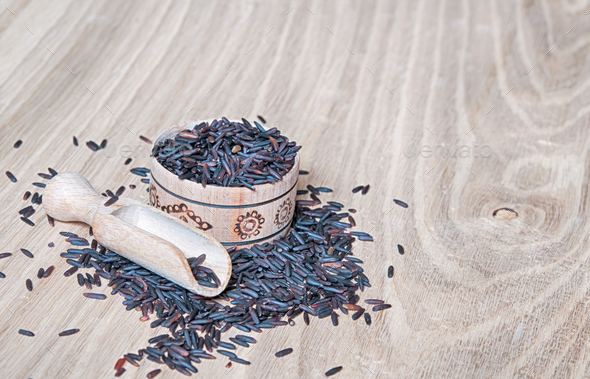 black rice - Stock Photo - Images