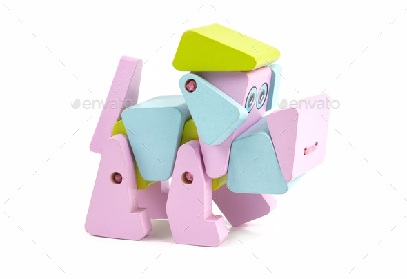 wooden toy dog - Stock Photo - Images