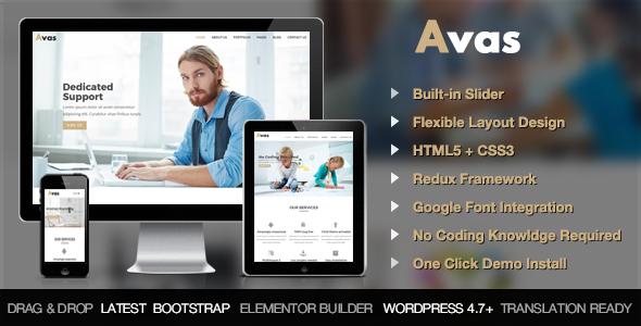 Avas - Multi Purpose Responsive WordPress Theme