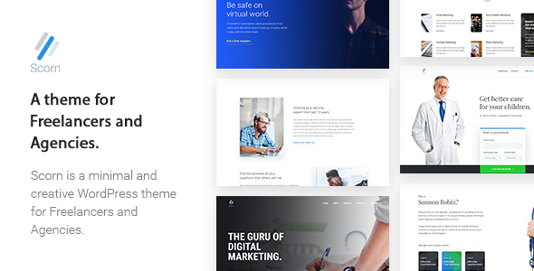 ThemeForest Scorn Portfolio WordPress theme for Freelancers and Agencies 19775458