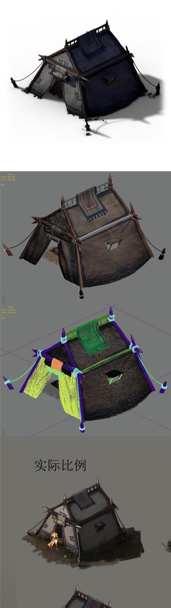 Barracks - Tent 03 - 3DOcean Item for Sale