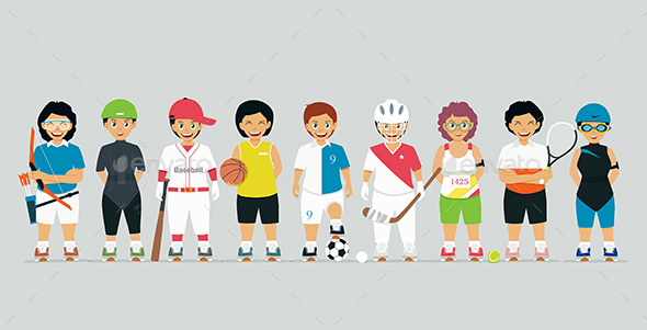Young Athletes - People Characters