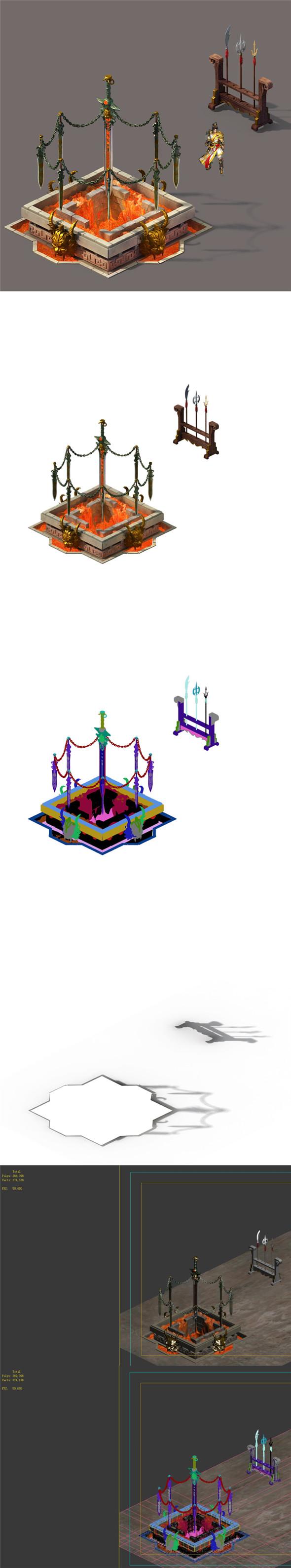 Barracks - sword furnace - 3DOcean Item for Sale