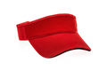Red golf visor for man or woman