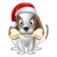 Cartoon Christmas Puppy