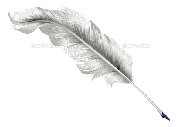 Classic Feather Quill Illustration - Miscellaneous Vectors