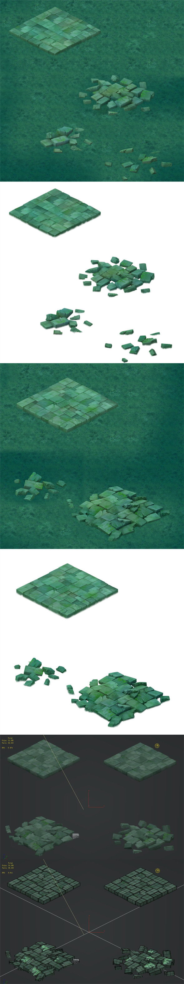 Cartoon version - floor tiles - 3DOcean Item for Sale