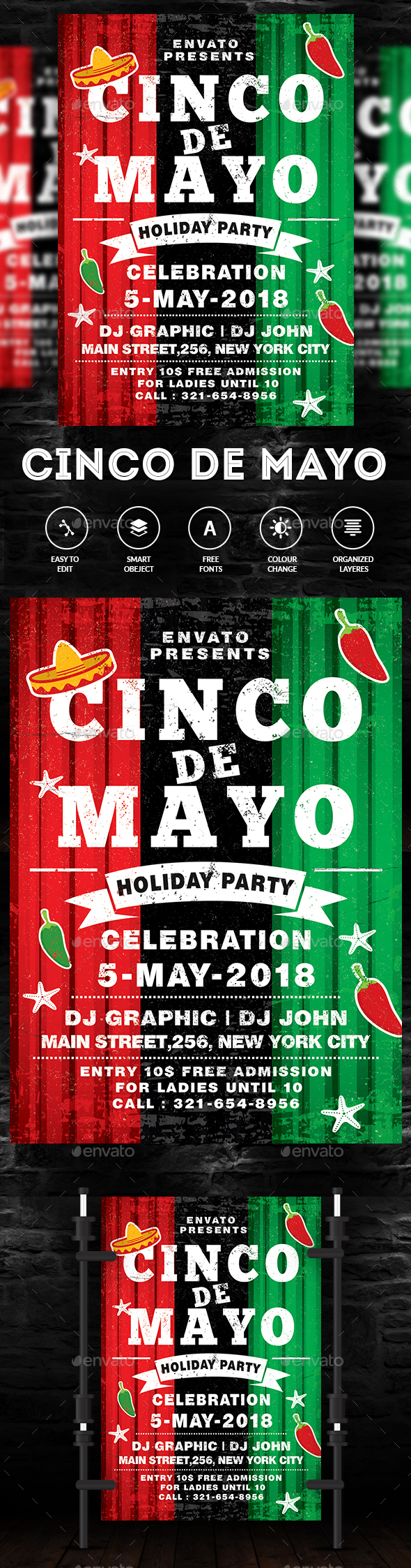 Cinco De Mayo Flyer - Clubs & Parties Events