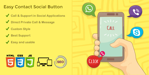 ECSB - Easy Contact Social Button - CodeCanyon Item for Sale