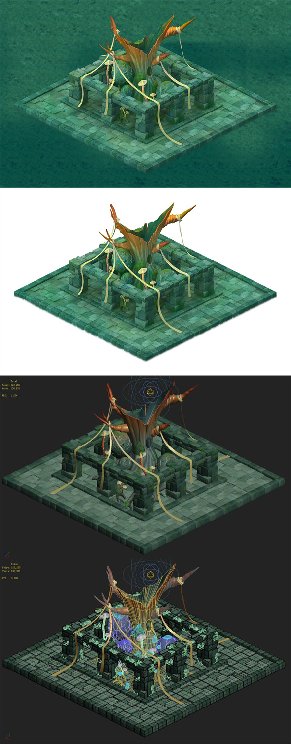 Cartoon Edition - Sacrifice Ancient Tree - 3DOcean Item for Sale