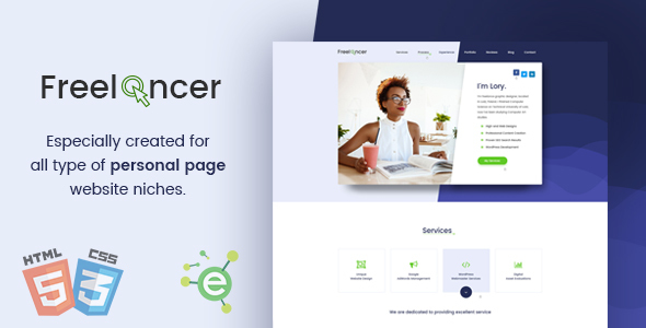Freelancer - Creative Business & Portfolio Personal Page HTML5 Template