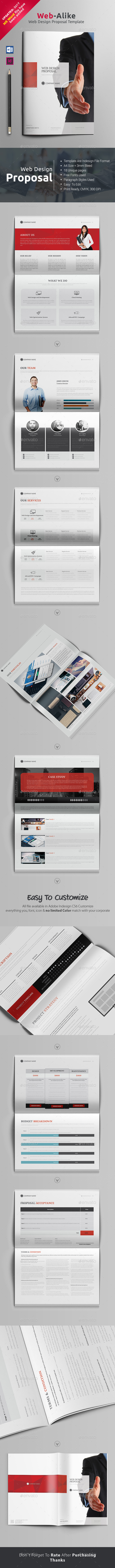 Web Proposal Word - Proposals & Invoices Stationery