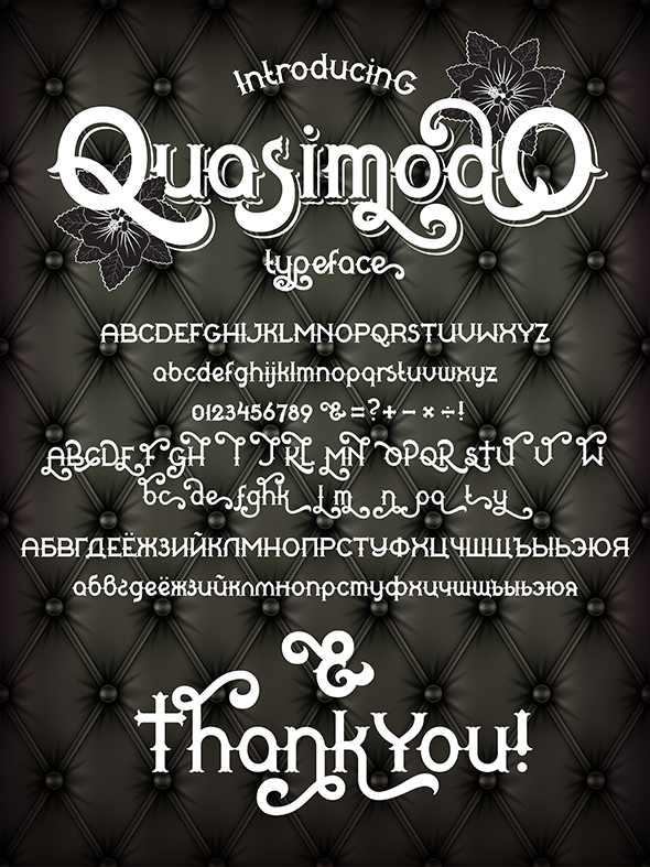 Quasimodo - Decorative Fonts