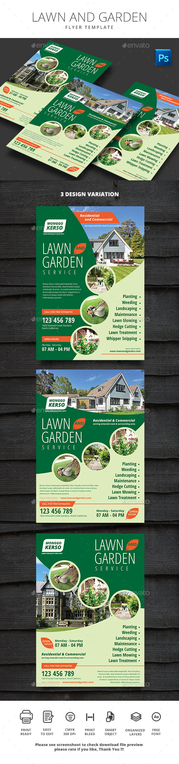 Lawn and Garden - Flyers Print Templates