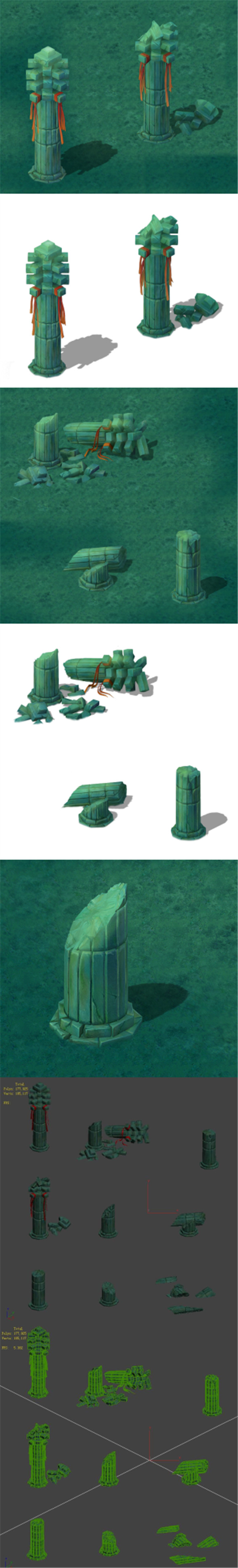 Cartoon version - pyramid front pillar - 3DOcean Item for Sale