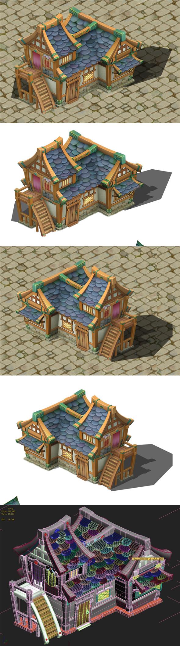 Cartoon Edition - House 04 - 3DOcean Item for Sale