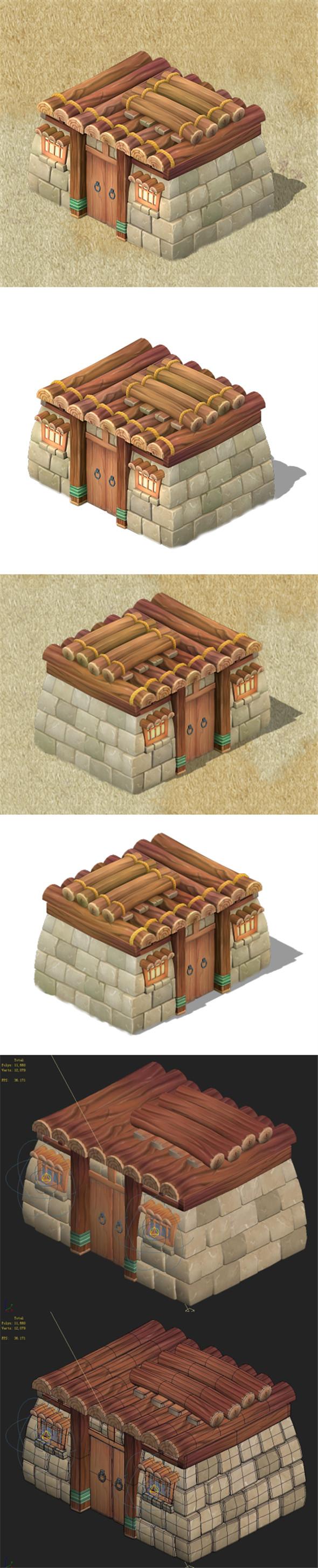 Cartoon version - residential 0403 - 3DOcean Item for Sale