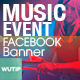 20 Facebook Post Banner - Music Event - GraphicRiver Item for Sale