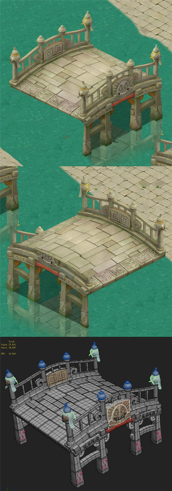 Cartoon version - stone bridge - 3DOcean Item for Sale