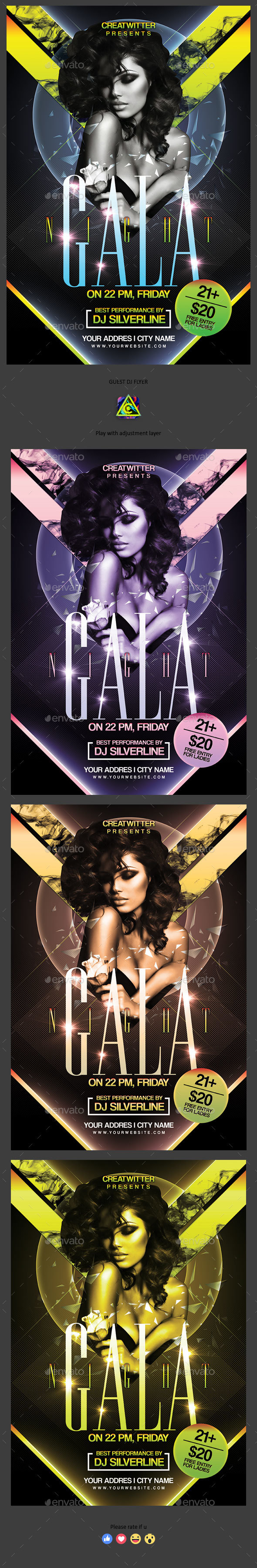 Gala Night Flyer - Clubs & Parties Events