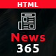 News365 - Newspaper Magazine Blog HTML Multipurpose Template with Video Newspaper Nulled