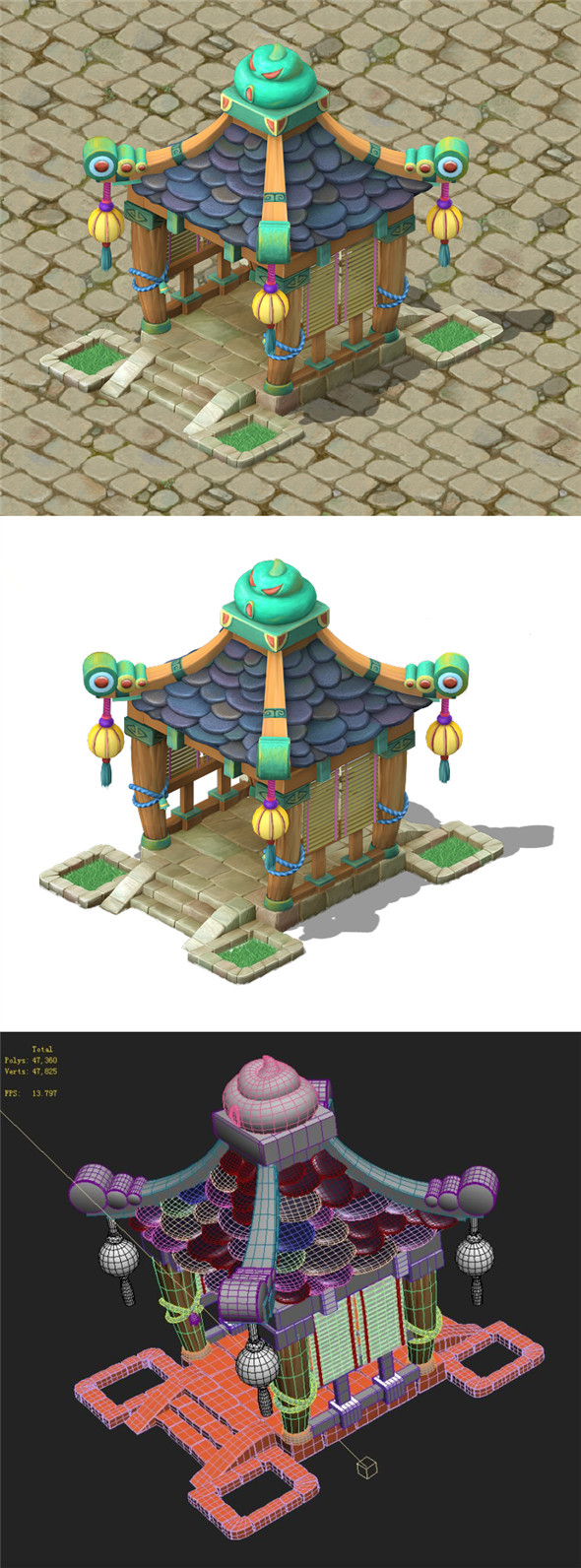 Cartoon version - small pavilion - 3DOcean Item for Sale