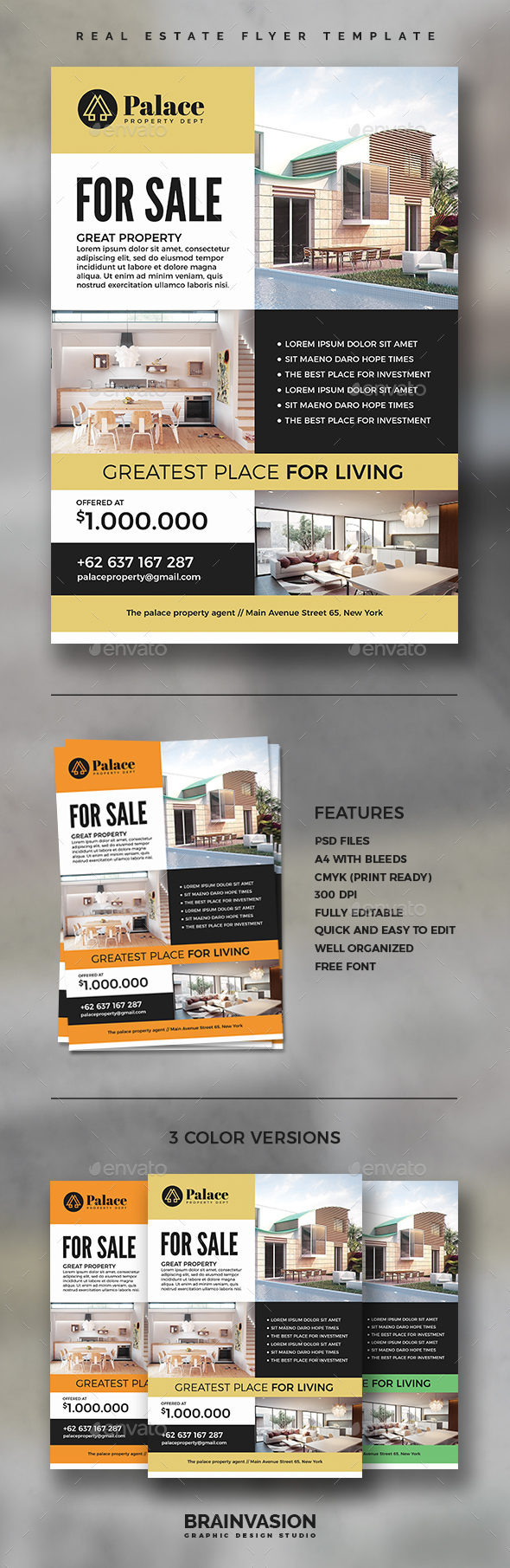 Real Estate Flyer Template Vol.03 - Corporate Flyers
