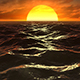 Fly Over Ocean In Sunset - VideoHive Item for Sale