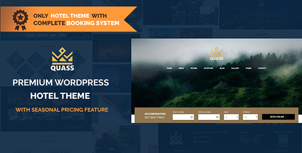 Quass Premium Hotel Theme - Complete Booking Engine