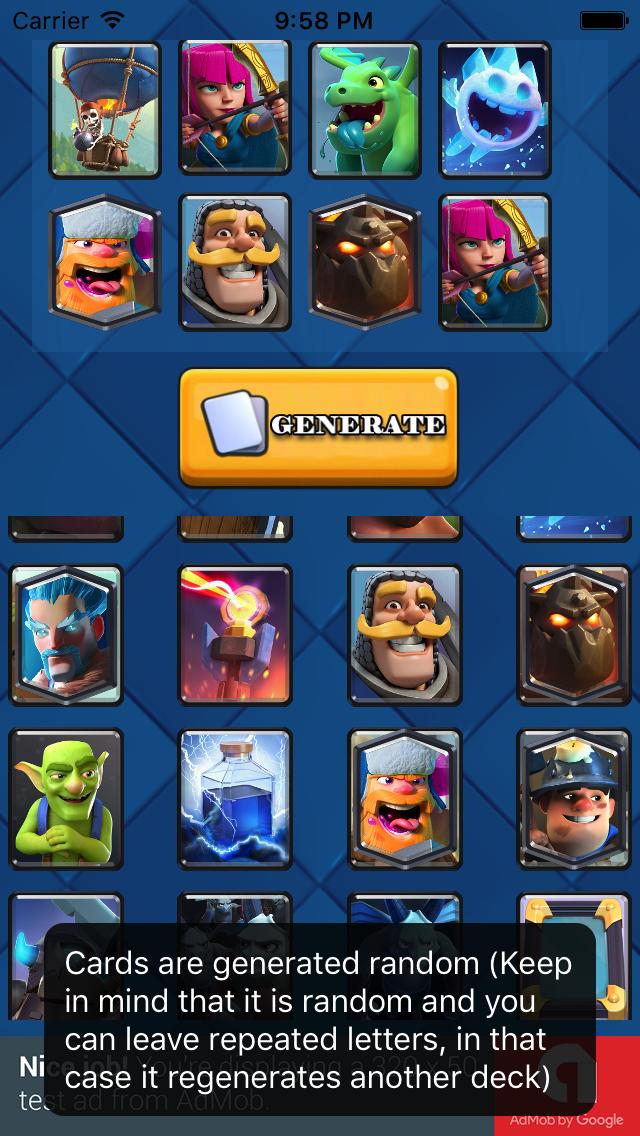 Random Battle Deck For Clash Royale By Dawayoapps Codecanyon