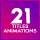 Title Animation Pack - VideoHive Item for Sale