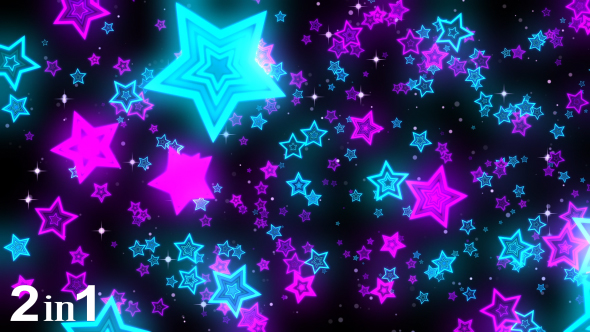 Stars Neon Background 2 Pack By Minimultik Videohive