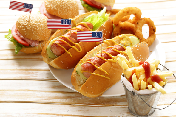 Traditional Food For The Celebration Of July 4 Stock Photo by Dream79