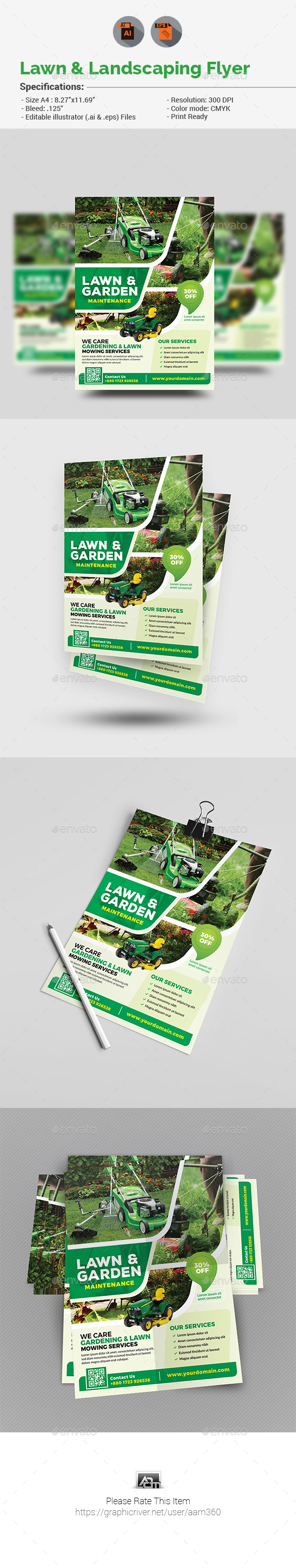 Lawn & Landscaping Flyer - Corporate Flyers