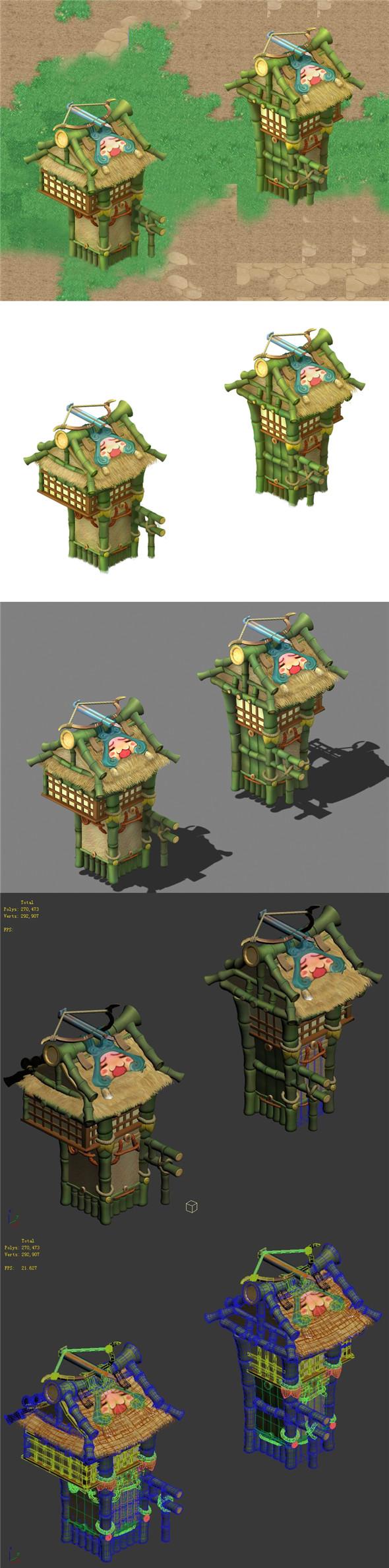 Cartoon World - City Gate - 3DOcean Item for Sale