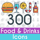 Food and Drinks Icons - GraphicRiver Item for Sale