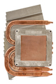 Heatpipe and radiators for cooling of processor, cooling system,