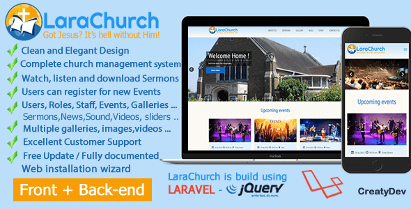 LaraChurch - Complete Church Management System - CodeCanyon Item for Sale