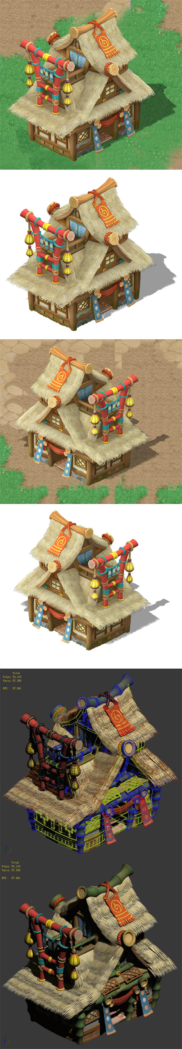 Cartoon World - House 0404 - 3DOcean Item for Sale